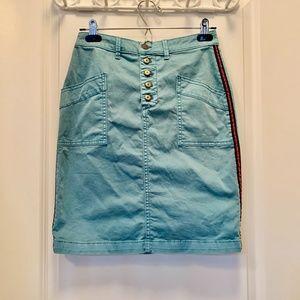 Pilcro and the Letterpress Chino Pencil Skirt
